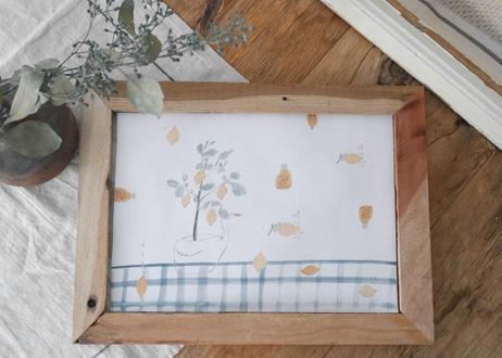 A4サイズ 布ポスター『レモンとスワン』