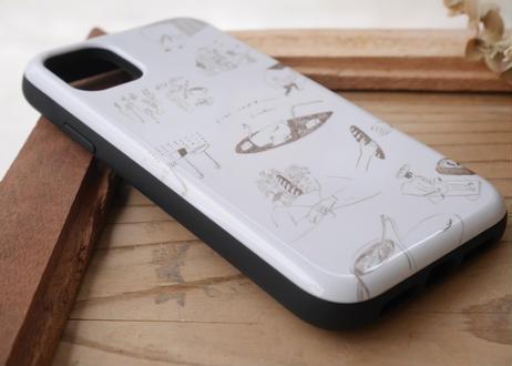 【iPhone11】スライド式ケース『パンとコーヒーの妄想』