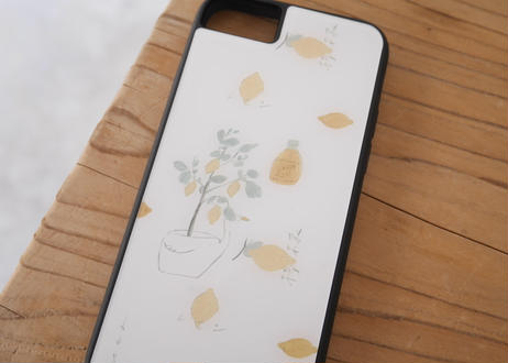 【iPhone6/6S/7/8/SE第2世代 共通】【X/XS】iPhoneケース『レモンとスワン』