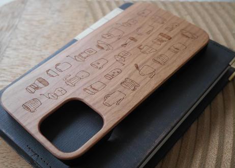 【iPhone 12/12pro 】ウッドiPhoneケース『コーヒー』
