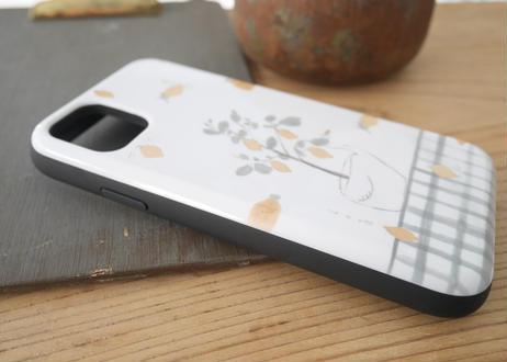 【iPhone11】スライド式ケース『レモンとスワン』