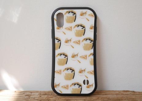 【オーダーした翌月中旬にお届け】iPhoneケース各種「猫とお菓子」