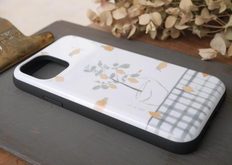 【iPhone11Pro】スライド式ケース『レモンとスワン』