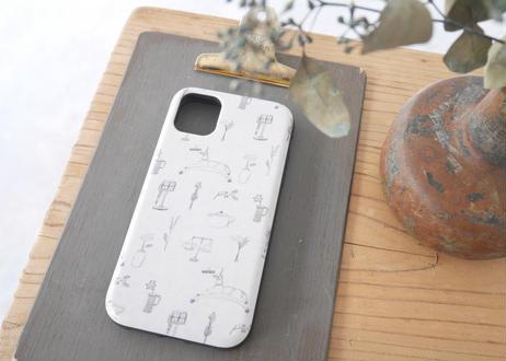 【iPhone11】スライド式ケース『古道具と花』