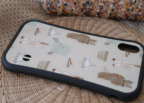 【オーダーした翌月中旬にお届け】iPhoneケース各種「干されてる間はつらい」