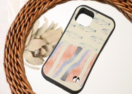 【オーダーした翌月中旬にお届け】iPhoneケース各種「鮭なれの果て」