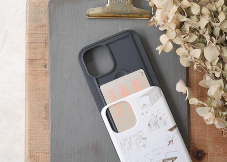 【iPhone11Pro】スライド式ケース『パンとコーヒーの妄想』