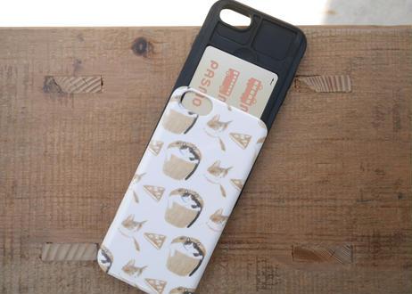 【iPhone6/6S/7/8/SE第2世代 共通】iPhoneケース『猫とお菓子』