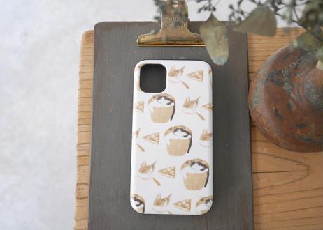 【iPhone11】スライド式ケース『猫とお菓子』