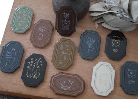 【先行お知らせ】窯で焼いた 手描き1点ものタイル 再入荷時にメール