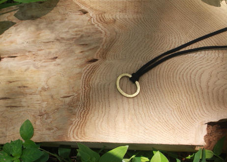 【Ery】brass necklace & suede<真鍮ネックレス>