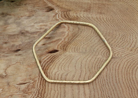 【Ery】brass bangle Hexagonal <真鍮バングル6角形>