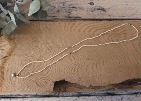【Ery】suzu&glass beads<真鍮ネックレス>