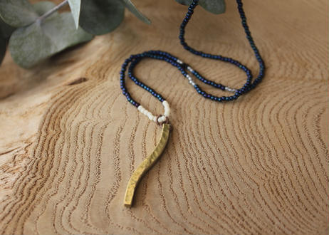 【Ery】brass & glass beads necklace<真鍮ネックレス>