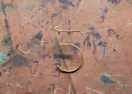 """【Ery】brass Number5  thin earrings<数字""""5""""ピアス>"""
