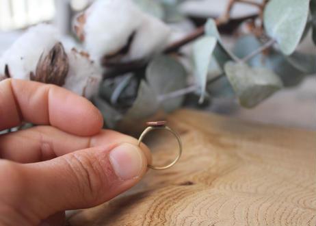 【Ery】cupper&blass ring <真鍮リング>9号