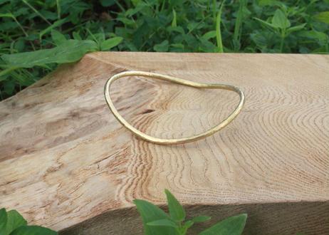 【Ery】brass bangle Free circle <真鍮バングル変形円>