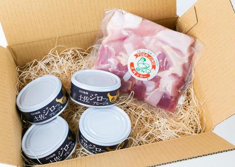 ●手軽に楽しめる●追いジロー(アヒージョ缶詰&カット肉)【冷蔵】