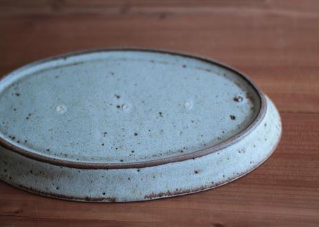 鉄粉のある 細リムのある楕円のお皿 L 静かで豊かな時間