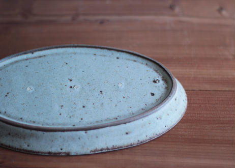 鉄粉のある 細リムのある楕円のお皿 M 静かで豊かな時間