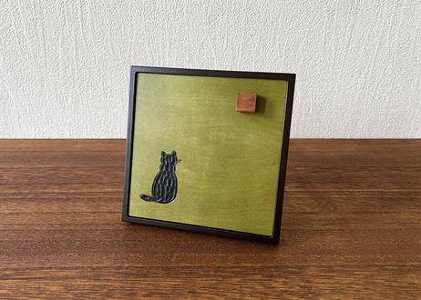 メモスタンド【猫】 黄色/緑/青