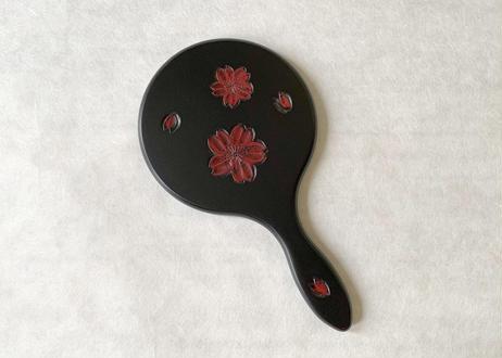 中鏡【桜】研出し 線彫