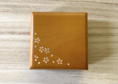 小物入れ【桜】山吹色