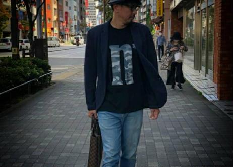 【No border squad × 釣日和 】コラボ  オリジナルカモフラTシャツ ー BLACK