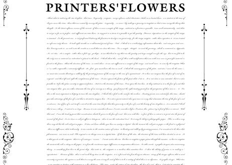 PRINTERS'FLOWERS from エンスヘデ活字鋳造所