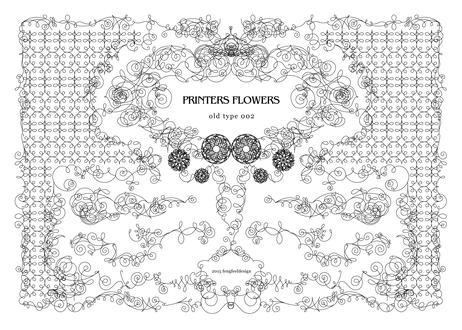 PRINTERS FLOWERS OLD TYPE 002