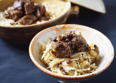 お家で炊き立て!和牛角煮と実山椒の炊き込みご飯