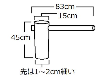 杵・太さ15cm(極太)・注文製作
