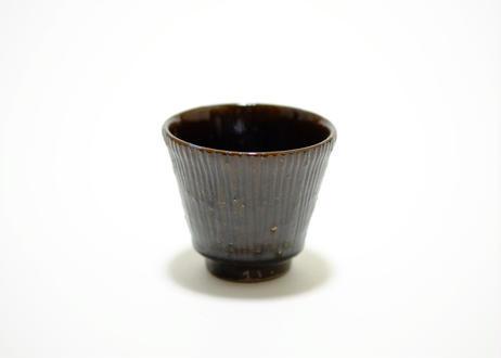 すずばなのmini cup《鉄釉しのぎ》薪窯バージョン セット販売