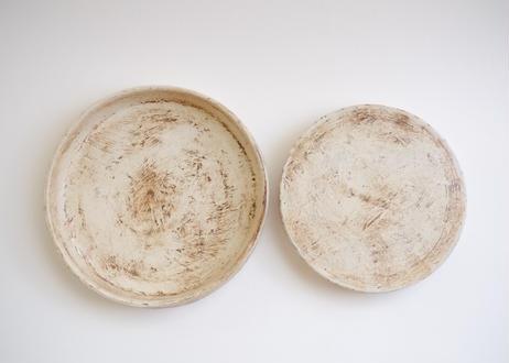 白化粧高台皿リバーシブル6寸