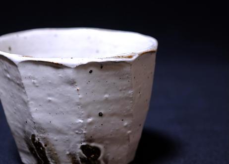 粉引面取フリーカップ小
