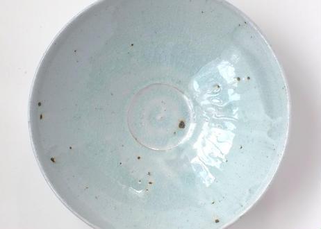 青釉八寸深皿