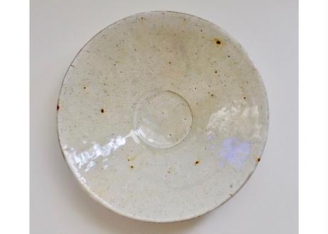 ガラス釉七寸深皿