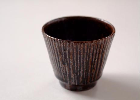 すずばなのmini cup《鉄釉しのぎ》