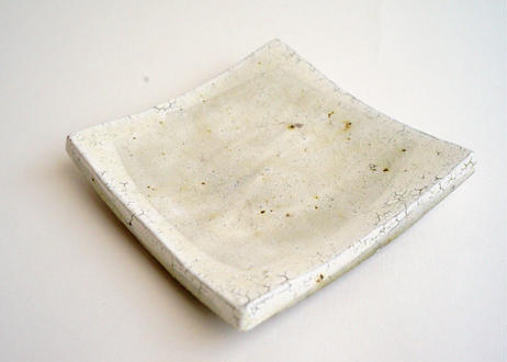 ガラス釉角皿