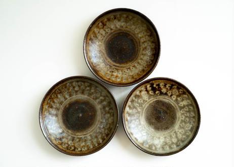 三島豆皿 薪窯で焼成
