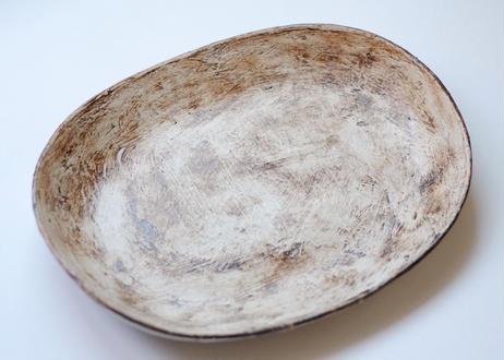 白化粧楕円皿