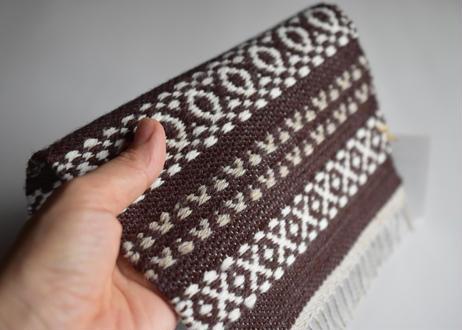 ウールマット 赤・茶/織布gecko