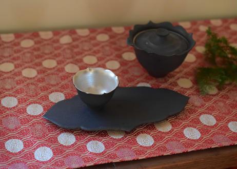黒輪花板皿 M/木下和美