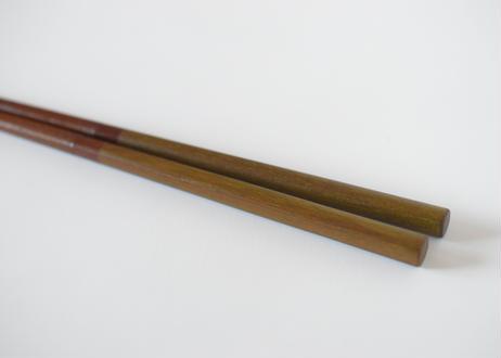 二色箸23㎝ 空 桜 黄色茶/平岡正弘