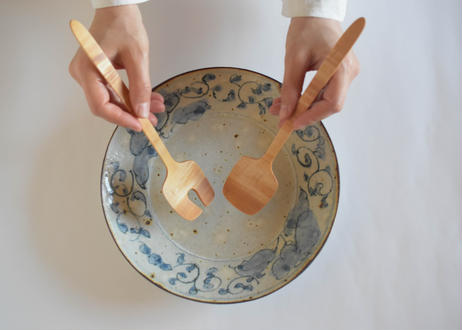 サラダサーバーセット 楓/鈴木努