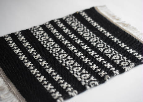 ウールマット 黒/織布gecko