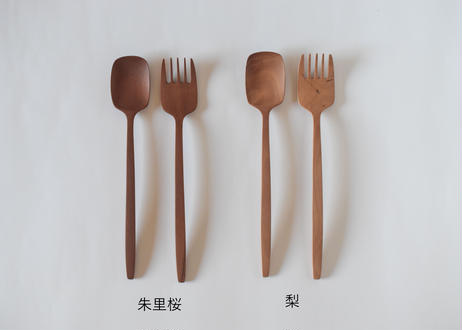 サラダサーバー2セット 梨/鈴木努