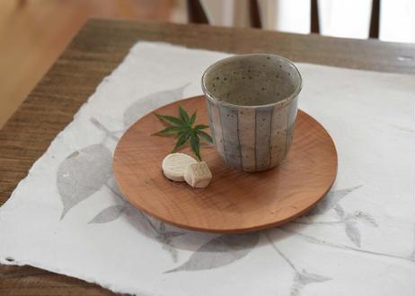6寸丸皿 サクラ オイル/田澤祐介