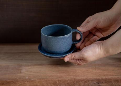 ぽてりカップアンドソーサー(ブルーグレー)