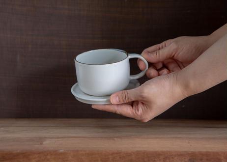 ぽてりカップアンドソーサー(しろ)